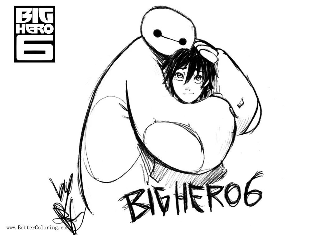 Free Big Hero 6 Coloring Pages Lineart by narutaru1 printable