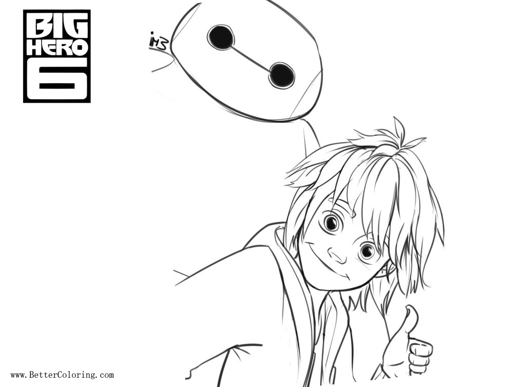 Free Big Hero 6 Coloring Pages Sketch by Tokio92 printable