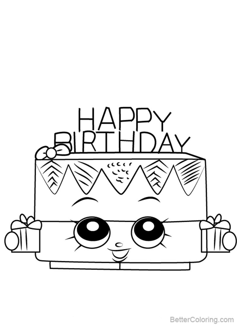 Free Birthday Betty from Shopkins Coloring Pages printable