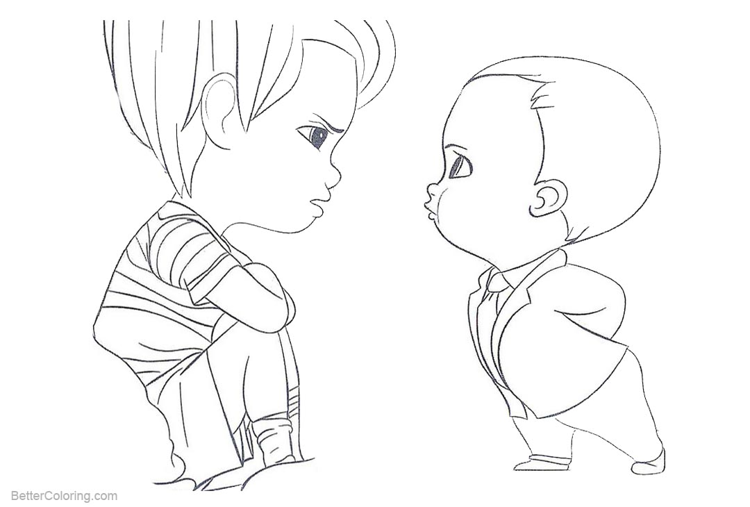 Free Boss Baby Coloring Pages Kids are Angry printable