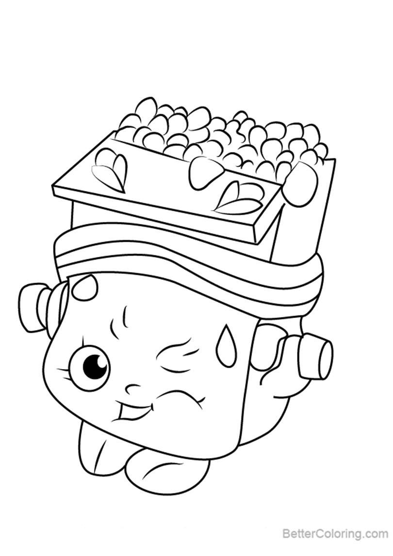 Free Breaky Crunch from Shopkins Coloring Pages printable