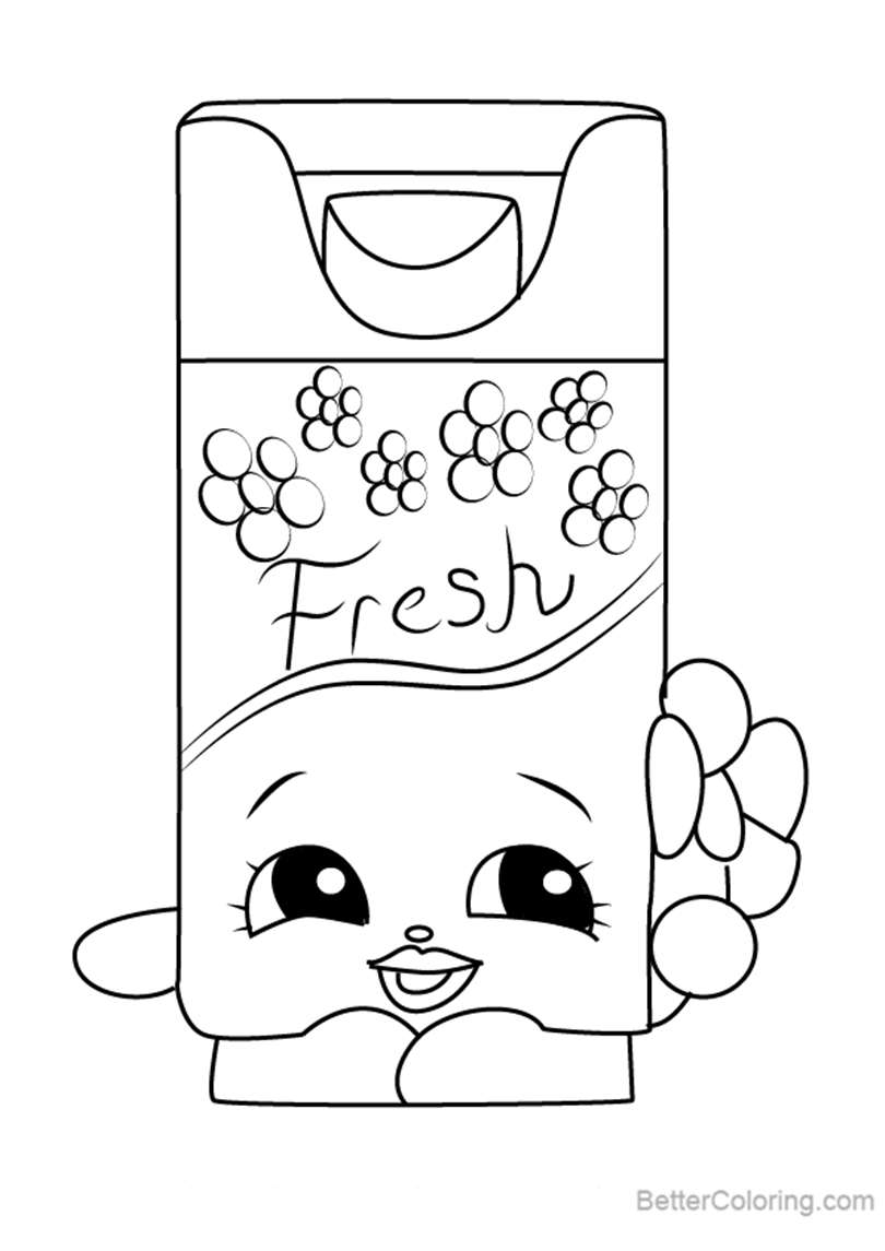 Free Bree Freshner from Shopkins Coloring Pages printable