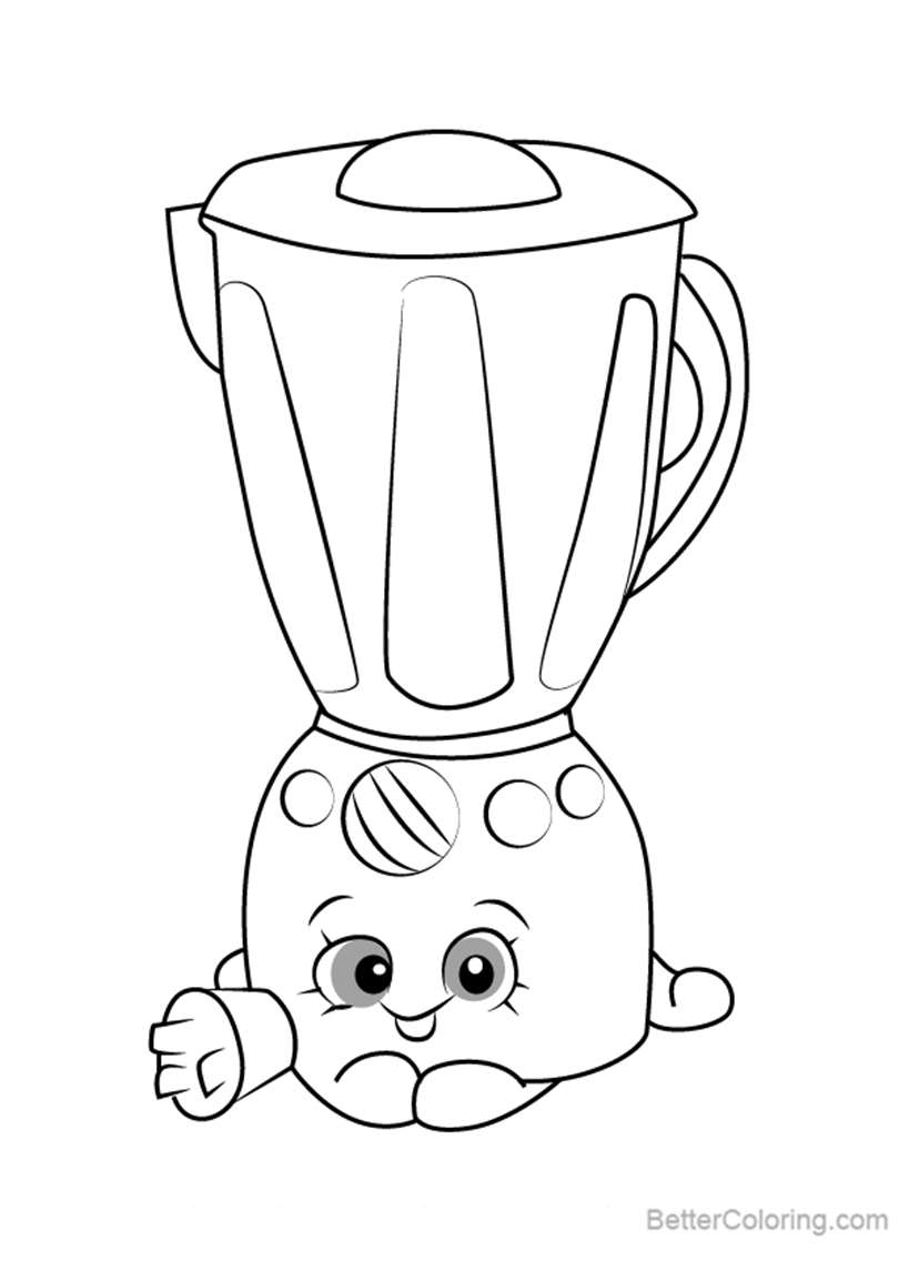 Free Brenda Blenda from Shopkins Coloring Pages printable