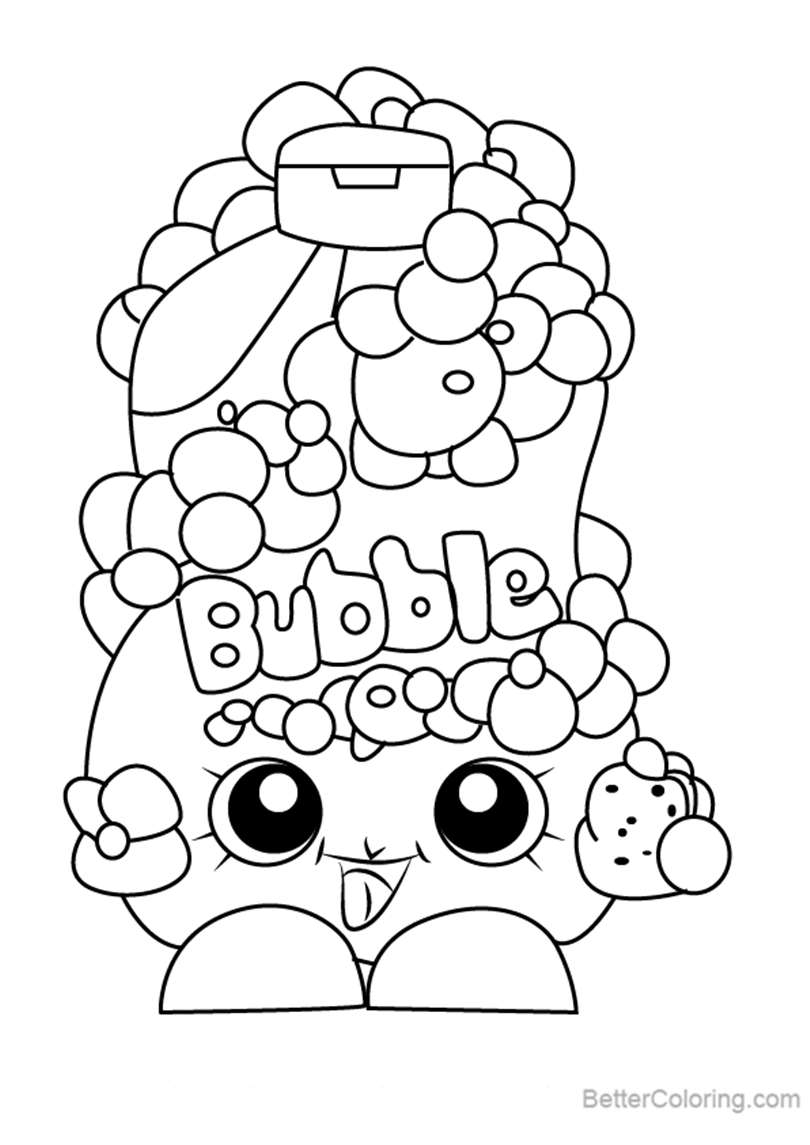 Bubble Tubs from Shopkins Coloring