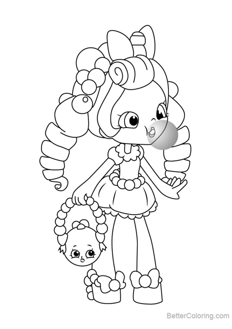 Free Bubbleisha from Shopkins Coloring Pages printable