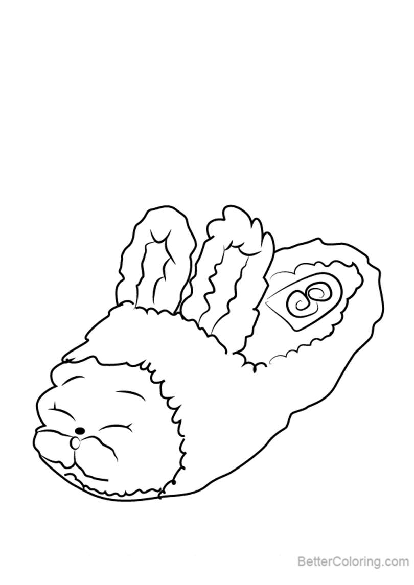 Free Bun Bun Slipper from Shopkins Coloring Pages printable