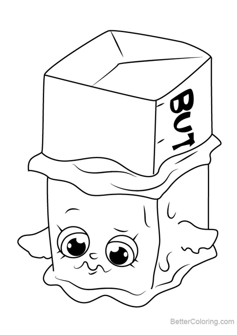 Free Buttercup from Shopkins Coloring Pages printable