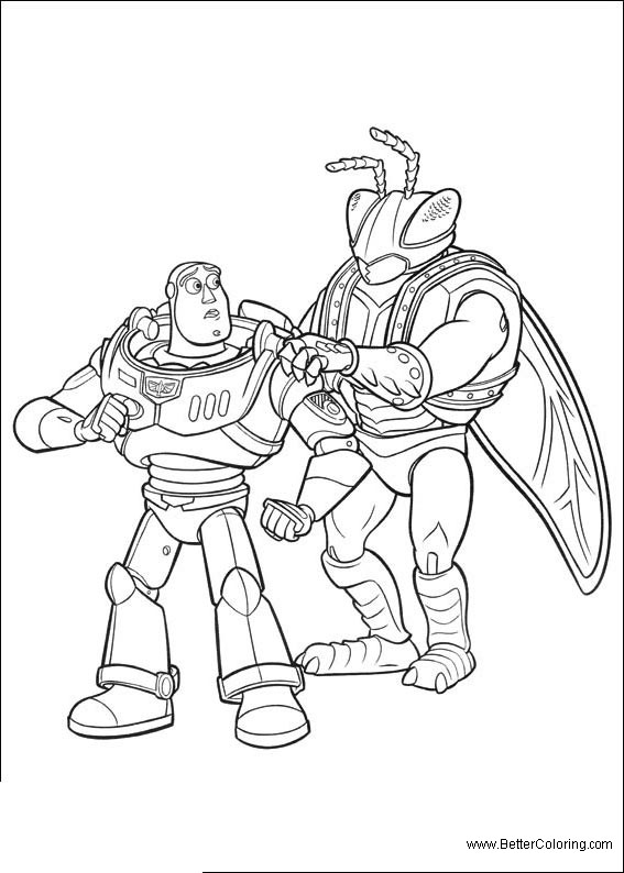 Free Buzz Lightyear Coloring Pages Characters from Toy Story printable