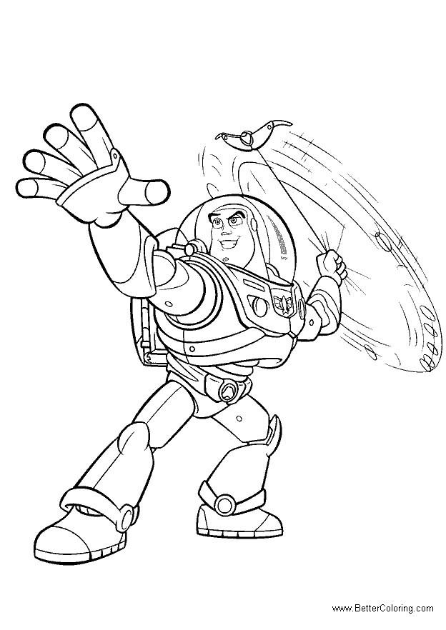 Free Buzz Lightyear Coloring Pages Lineart printable