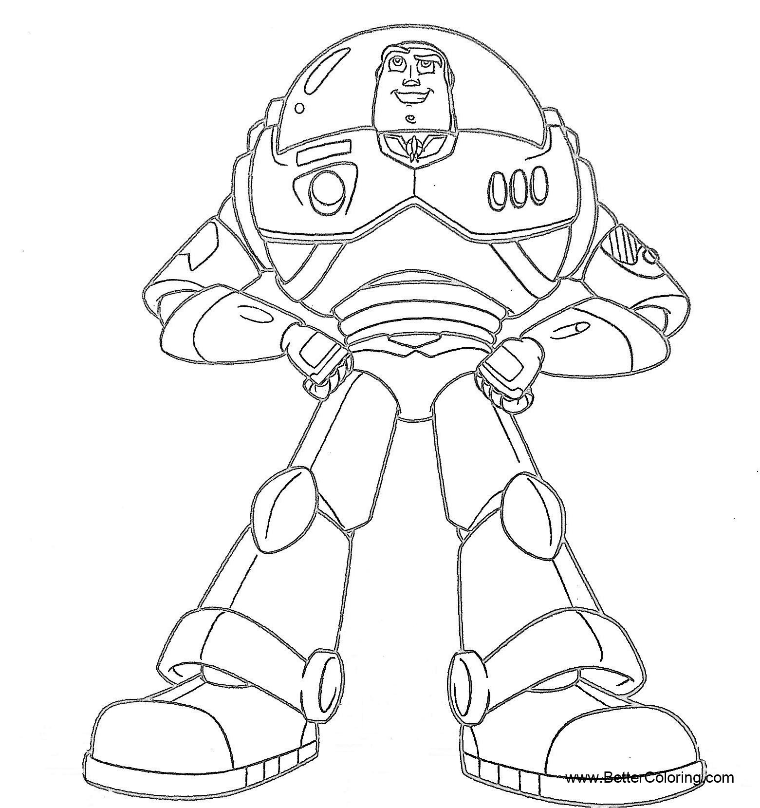 Free Buzz Lightyear Coloring Pages Simple Drawing printable