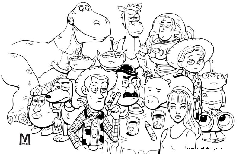 Free Buzz Lightyear Coloring Pages Toy Story Characters printable