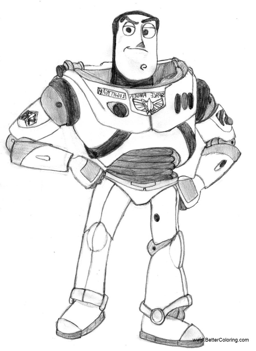 Buzz Lightyear Coloring Pages By Cartoonlover159 Free Printable