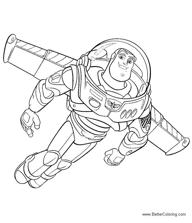 Free Buzz Lightyear Coloring Pages printable