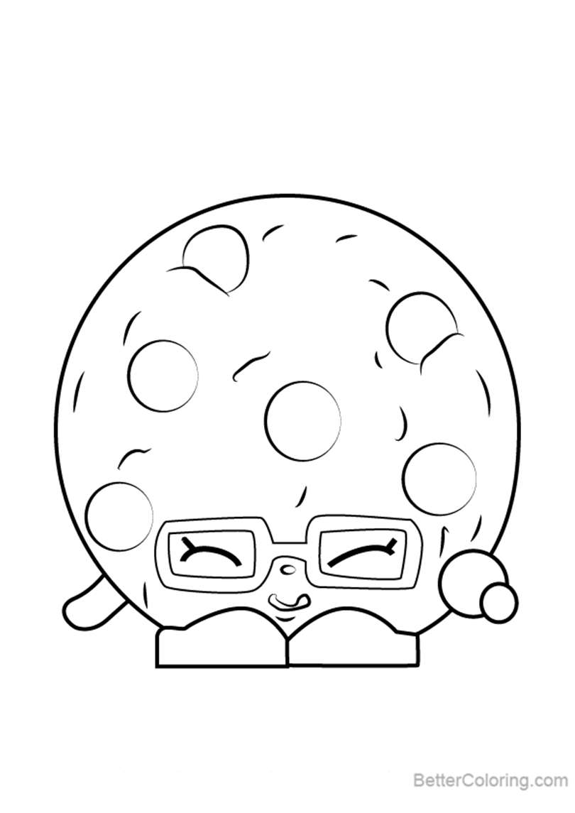 Free Candy Cookie from Shopkins Coloring Pages printable