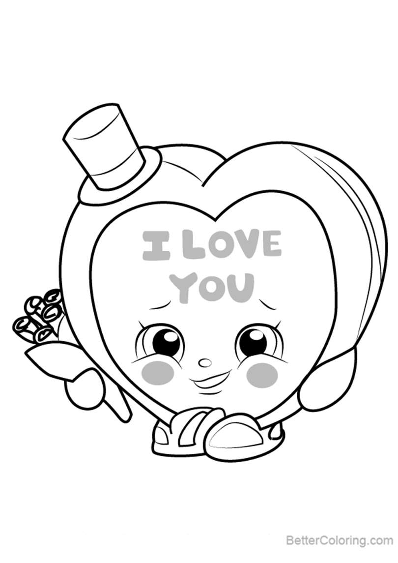 Candy Kisses from Shopkins Coloring Pages - Free Printable Coloring ...