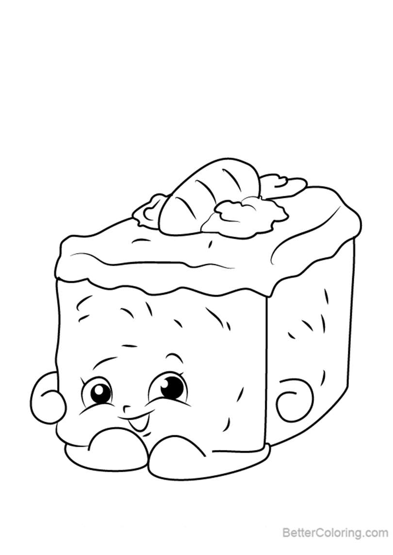 Free carrie carrot cake from shopkins coloring pages printable for kids and adults