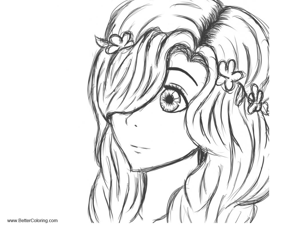 Cartoon Girly Coloring Pages