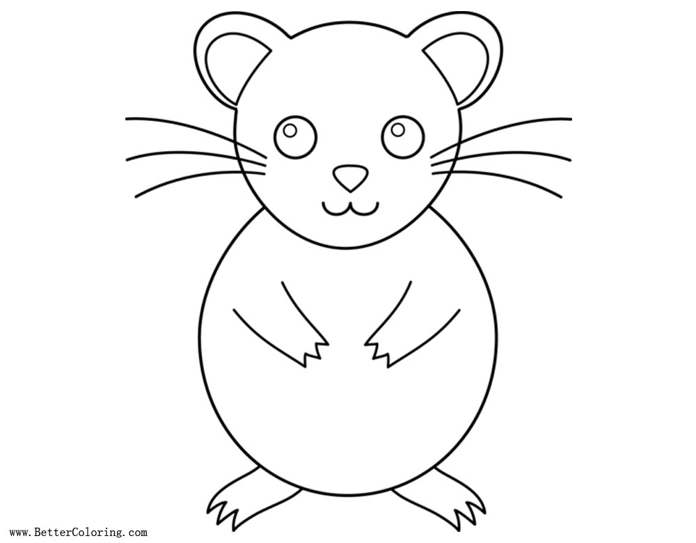 Free Cartoon Hamster Coloring Pages printable