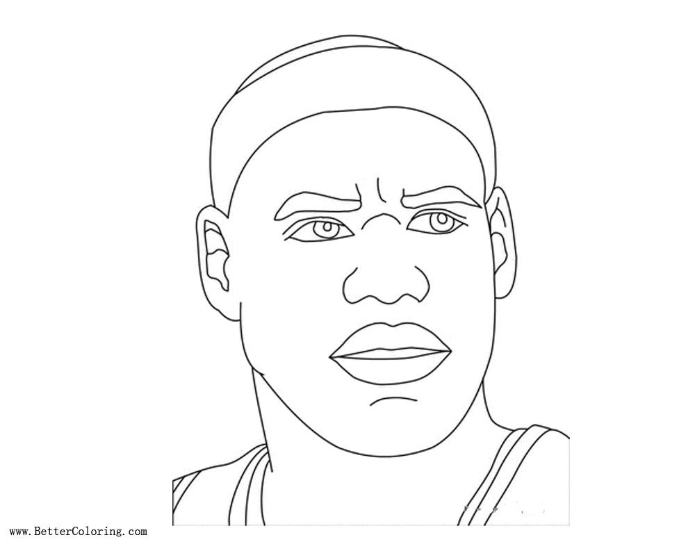 Cartoon Lebron James Coloring Pages