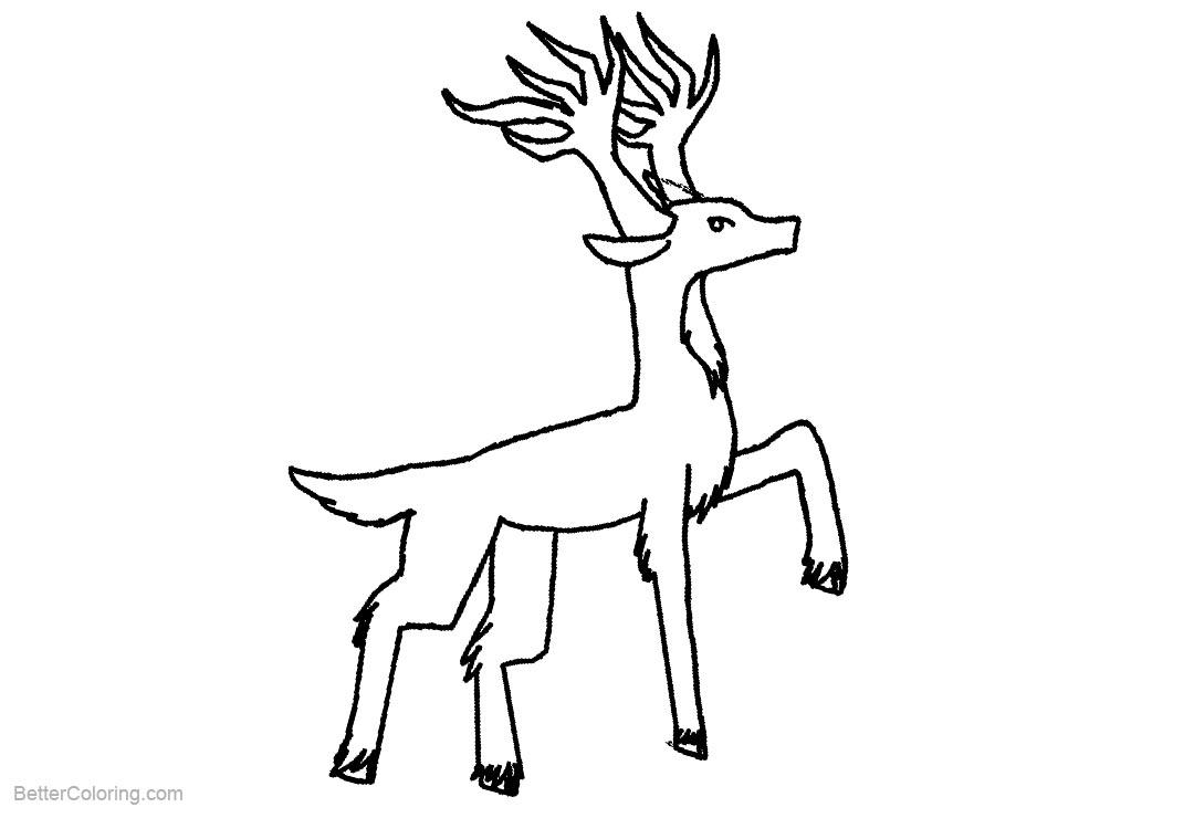Free Cartoon Reindeer Coloring Pages by rhapsoddity printable