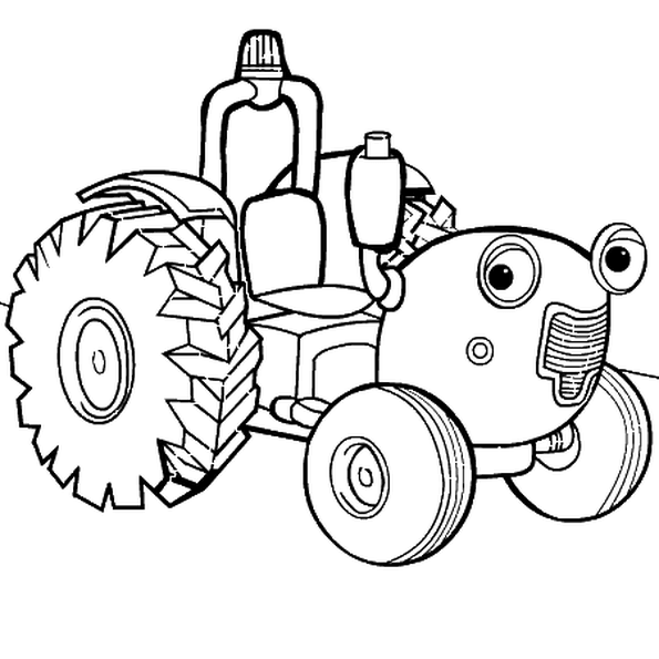 Free Cartoon Tractor Coloring Pages printable