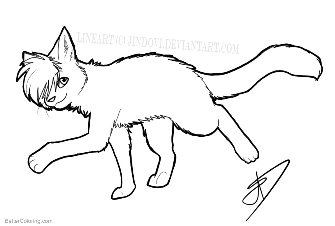 Free Cat Coloring Pages Line Art printable