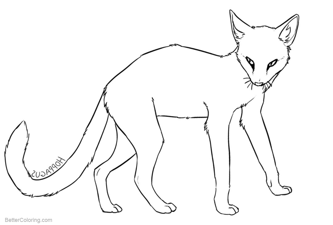 Free Cat Coloring Pages Line Drawing by hoppagus printable