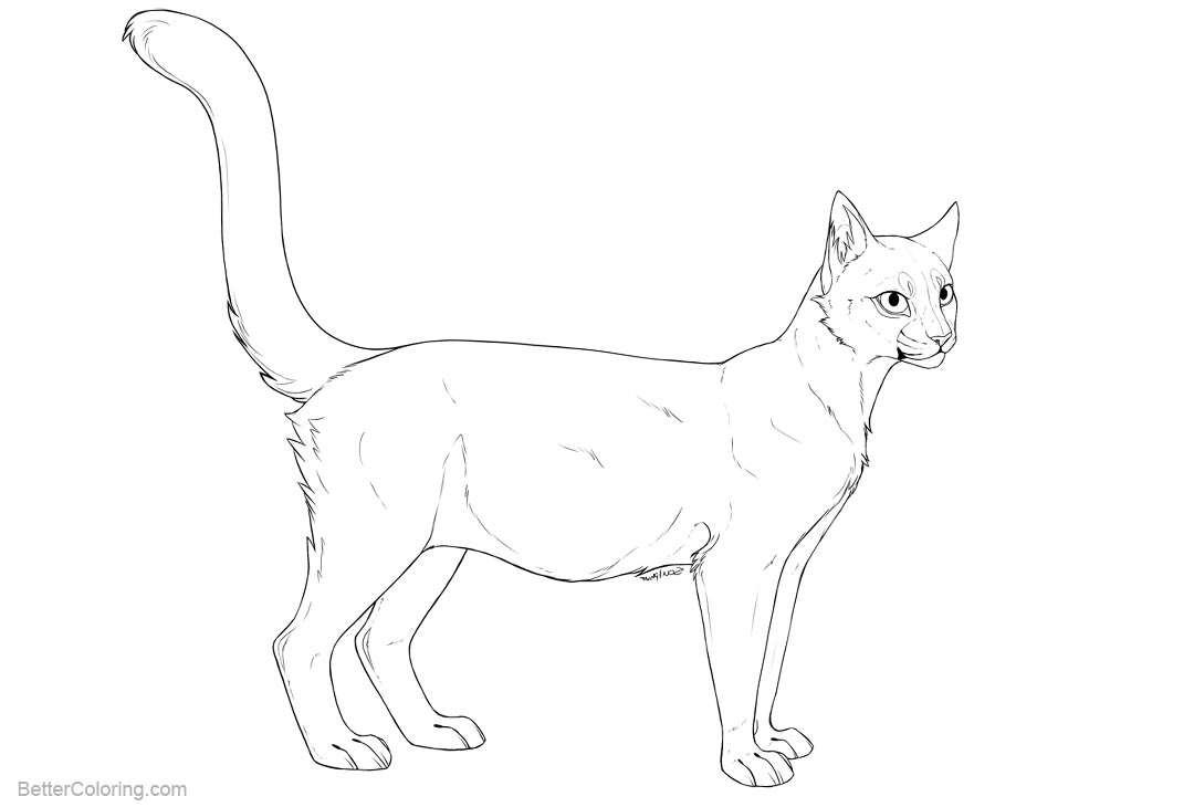 Cat Coloring Pages Pregnant Cat by soulphur - Free Printable ...