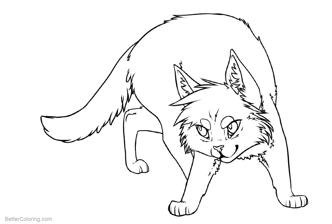 Free Cat Coloring Pages by karaikou printable