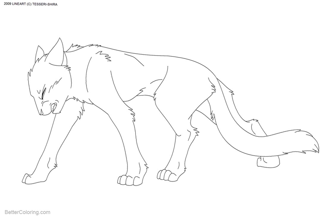 Free Cat Coloring Pages by tesseri shira printable