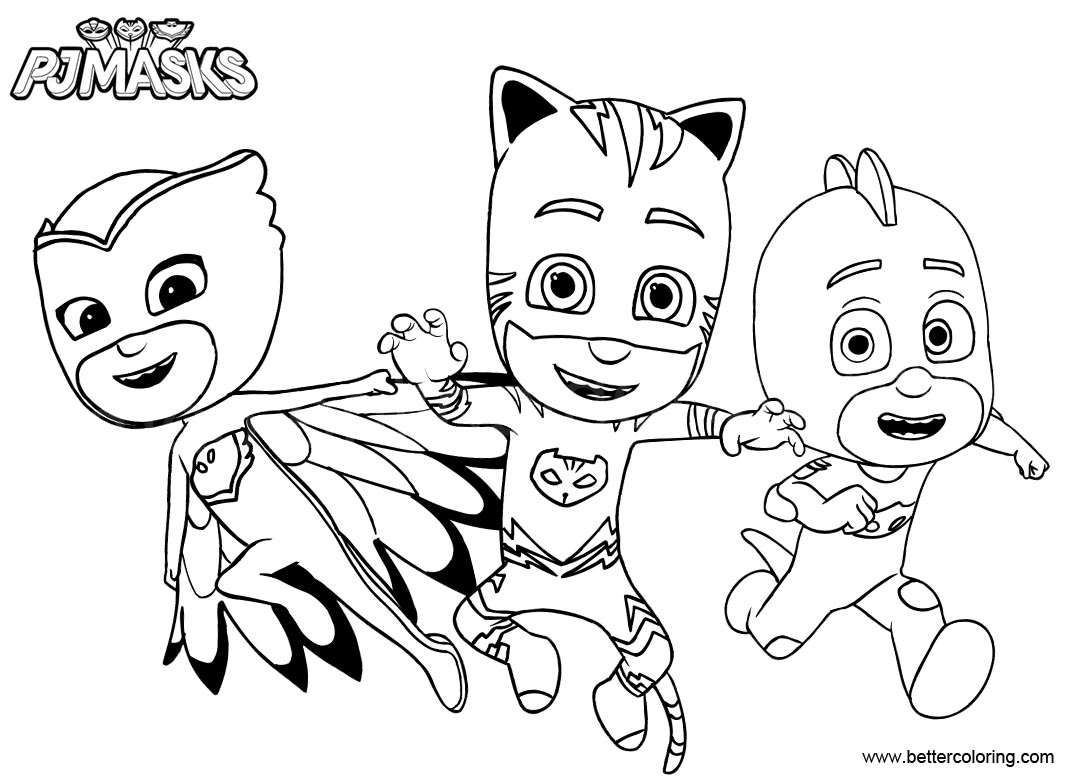 Free Catboy From PJ Masks Coloring Pages Printable For Kids And Adults