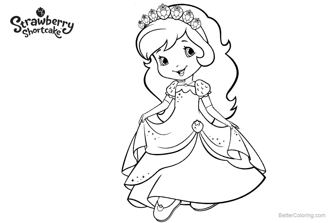 Free Character from Strawberry Shortcake Coloring Pages printable