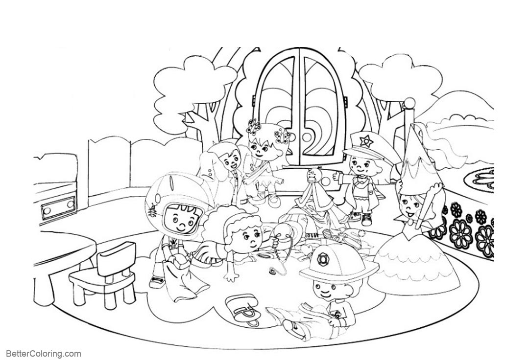 Free Characters from Chloe's Closet Coloring Pages printable