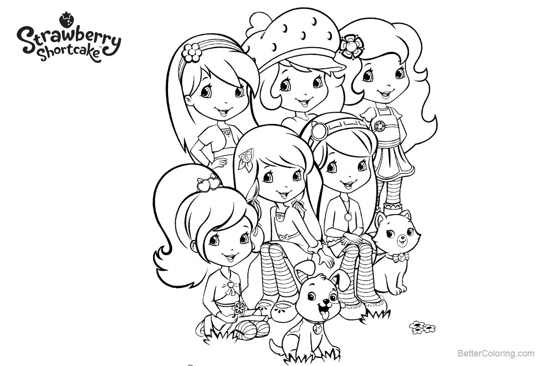 Free Characters from Strawberry Shortcake Coloring Pages printable