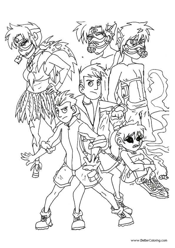 Characters from Wild Kratts Coloring Pages - Free ...