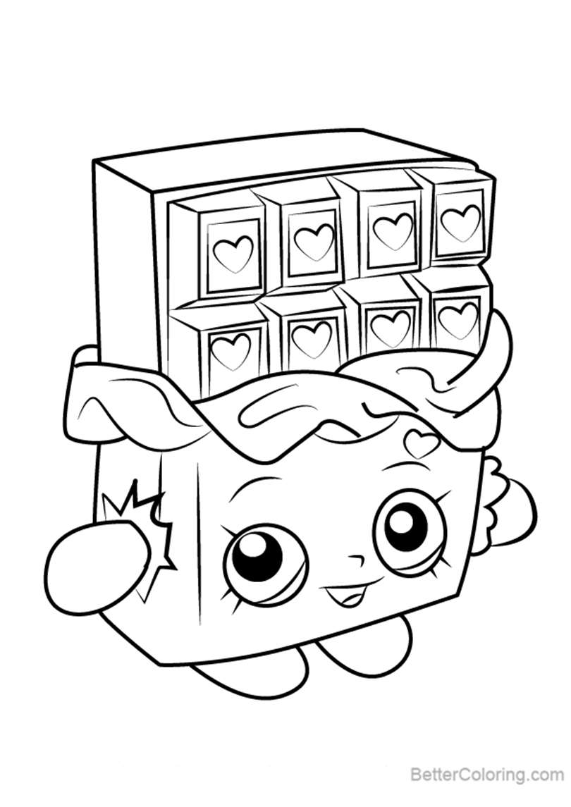 full color cheeky chocolate coloring pages | Cheeky Chocolate from Shopkins Coloring Pages - Free ...
