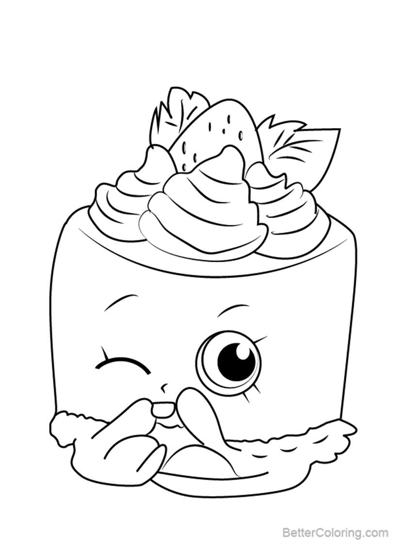 Free Cheese Louise from Shopkins Coloring Pages printable