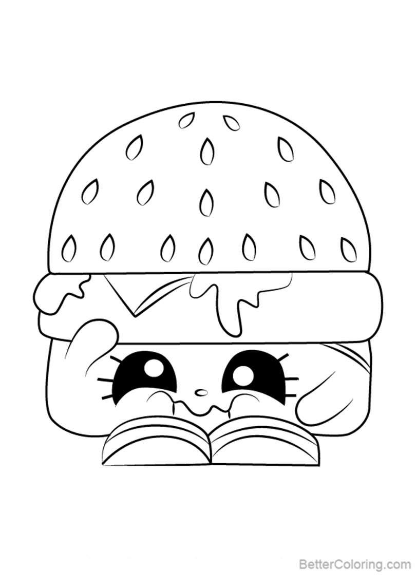 Cheezey B From Shopkins Coloring Pages Free Printable Coloring Pages