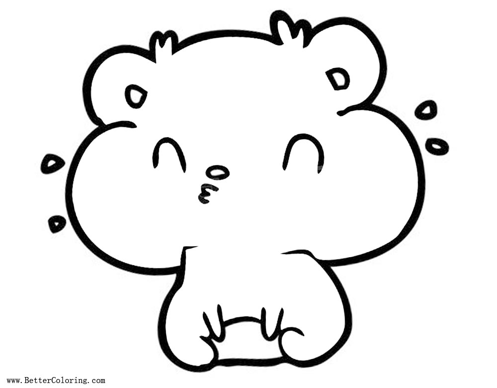 Chibi Hamster Coloring Pages - Free Printable Coloring Pages