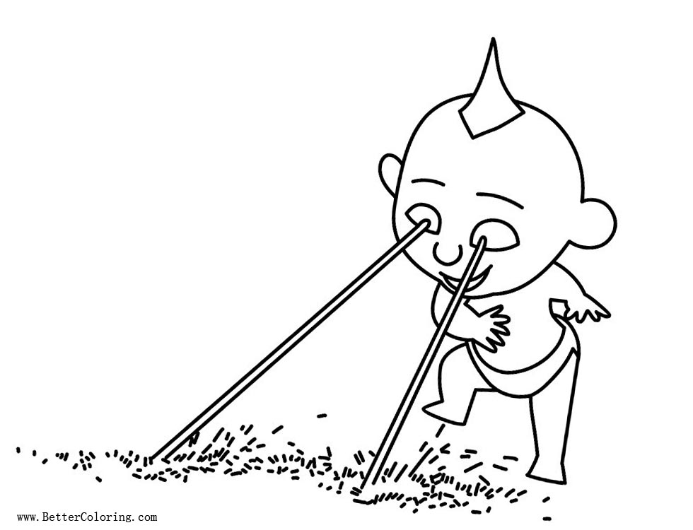 Chibi Incredibles Coloring Pages