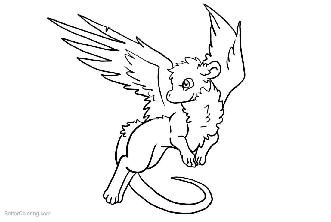 Free Chibi Winged Llama Coloring Pages printable