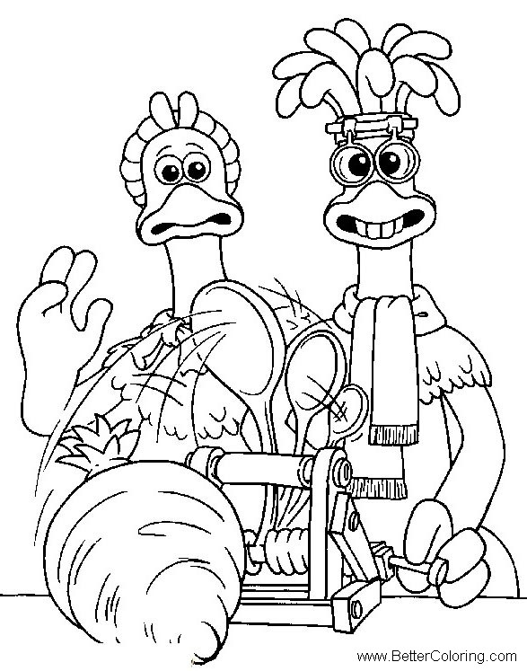 chicken run free coloring pages - photo#10
