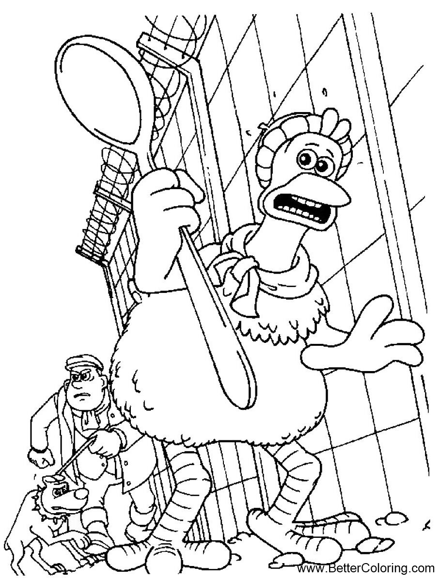 Chicken Run Coloring Pages In Danger - Free Printable Coloring Pages