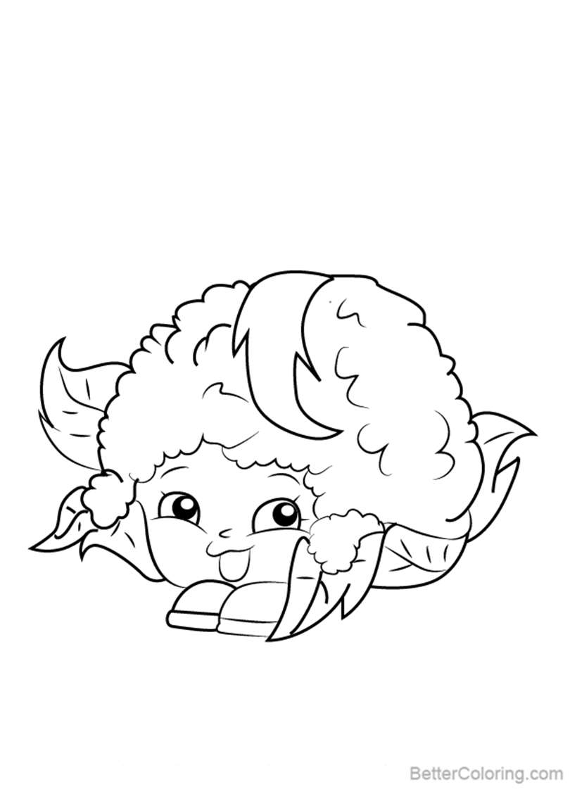 Free Chloe Flower from Shopkins Coloring Pages printable