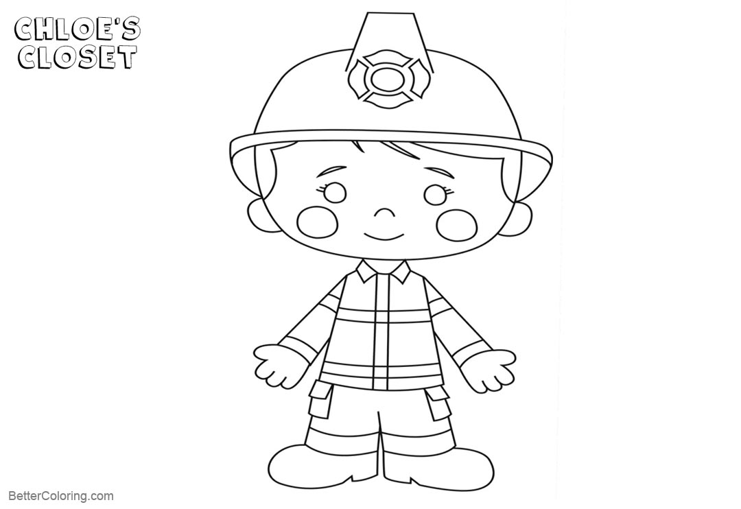 Free Chloe's Closet Characters Coloring Pages printable
