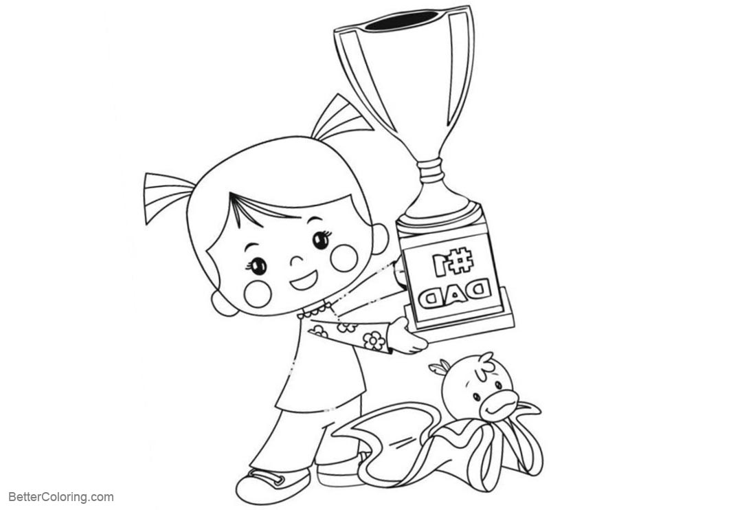 Free Chloe's Closet Coloring Pages A Big Trophy printable