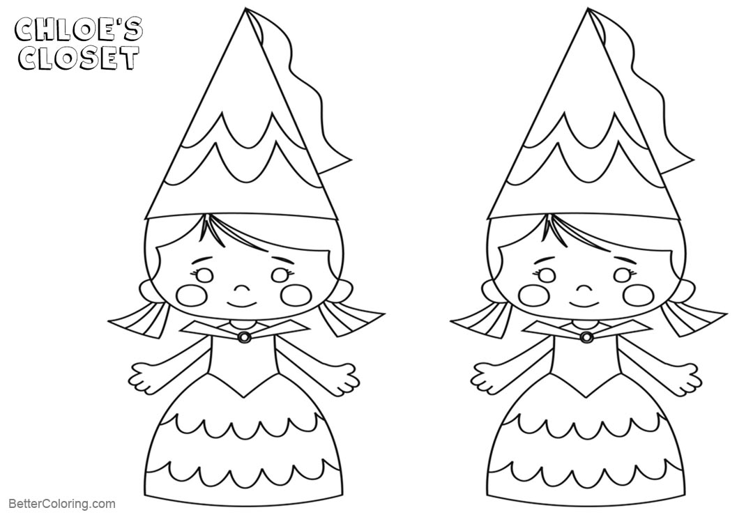chloe s closet coloring pages chloe in hat free printable coloring