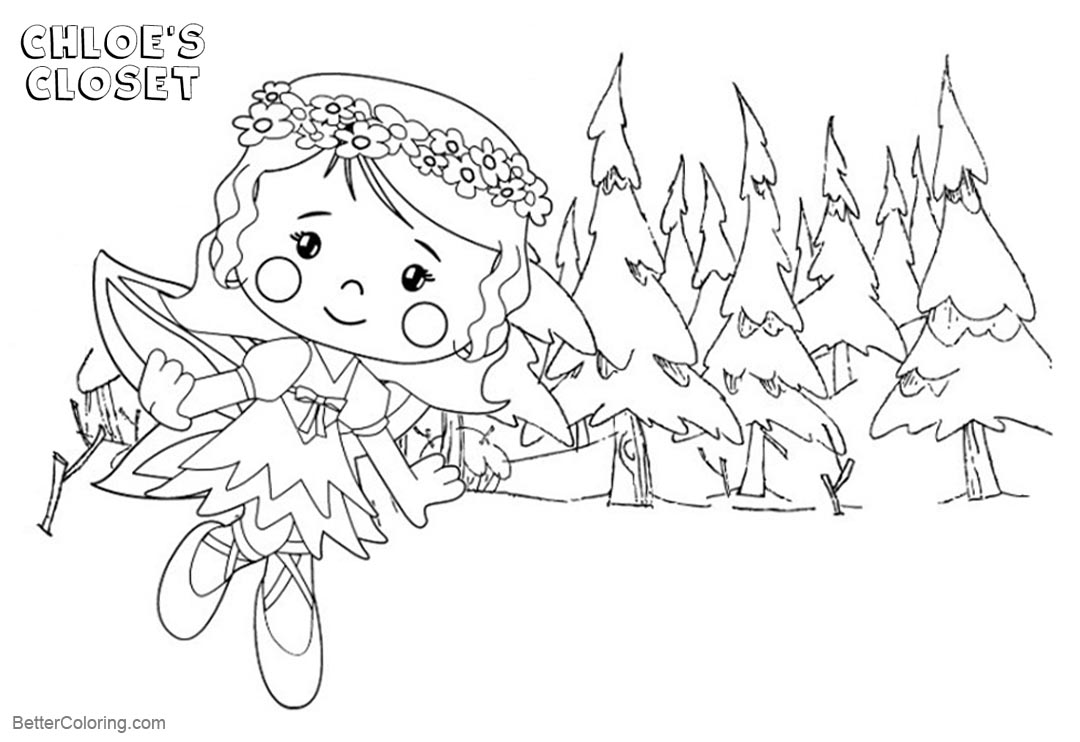 Free Chloe's Closet Coloring Pages Chloe in the Woods printable