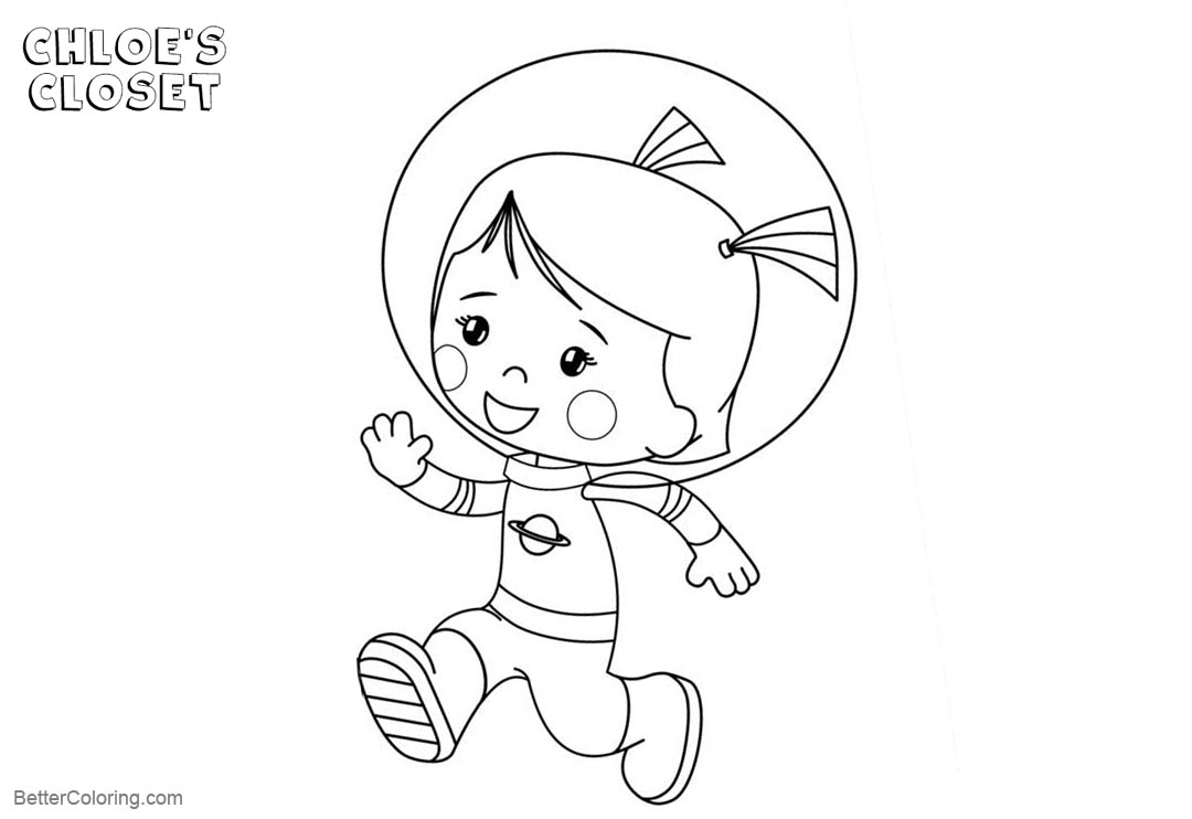 Free Chloe's Closet Coloring Pages Chloe is Running printable