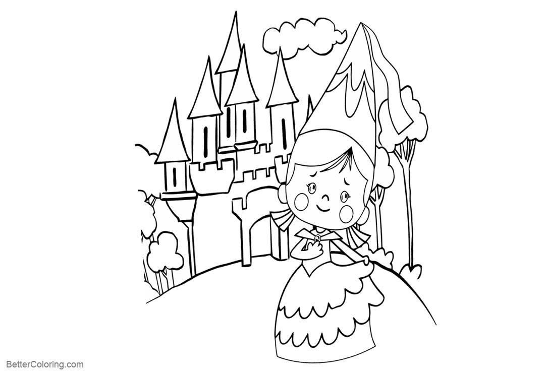 Free Chloe's Closet Coloring Pages and Castle printable